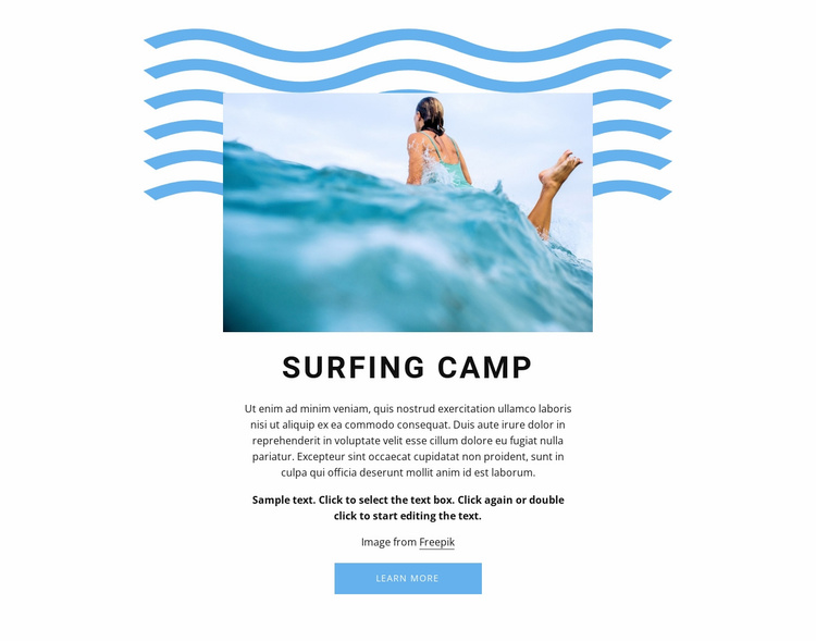 Surfing camp Website Template