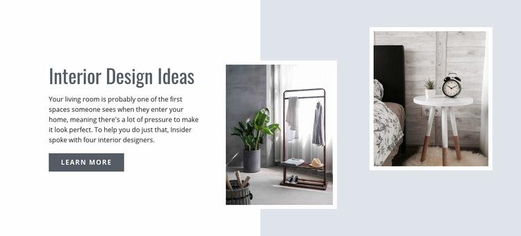Modern Interior Design Ideas WordPress Website
