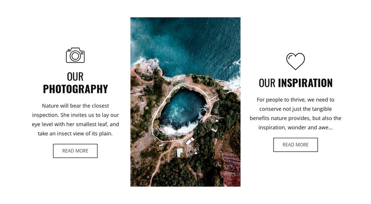 Drone photography HTML Template
