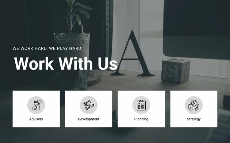Work with us Html Website Builder