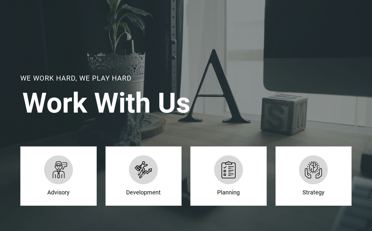 Work with us One Page Template