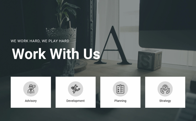 Work with us Landing Page