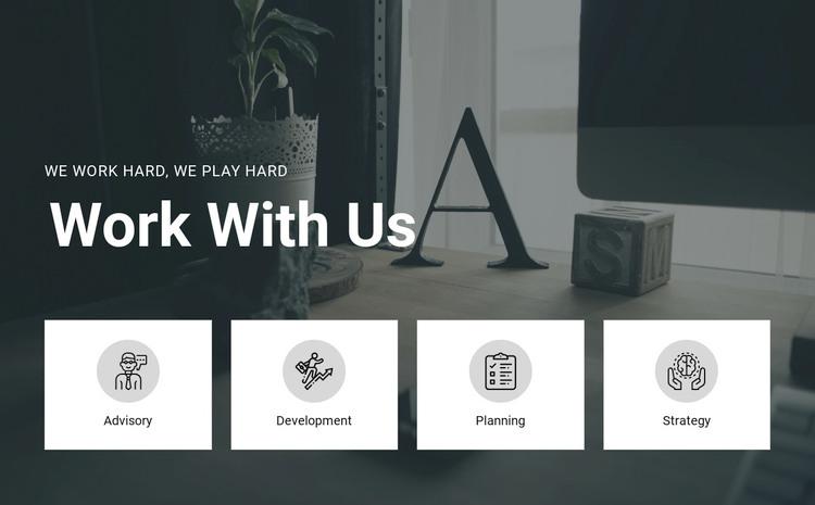 Work with us WordPress Theme