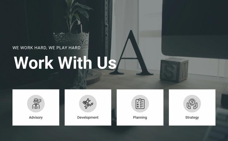 Work with us WordPress Website Builder