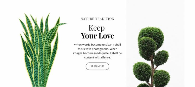 Plant and flower shop WordPress Website Builder