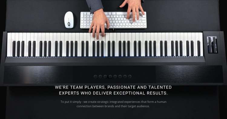 Calm piano music Joomla Template