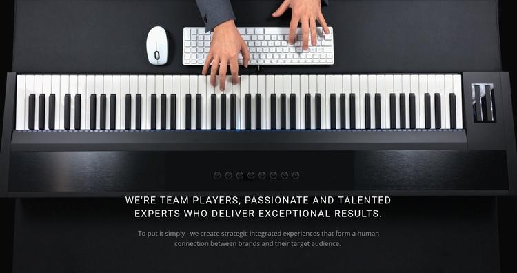 Calm piano music Landing Page