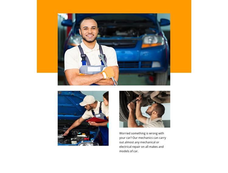 Reliable automotive repair services HTML Template
