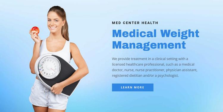 Weight management HTML Template