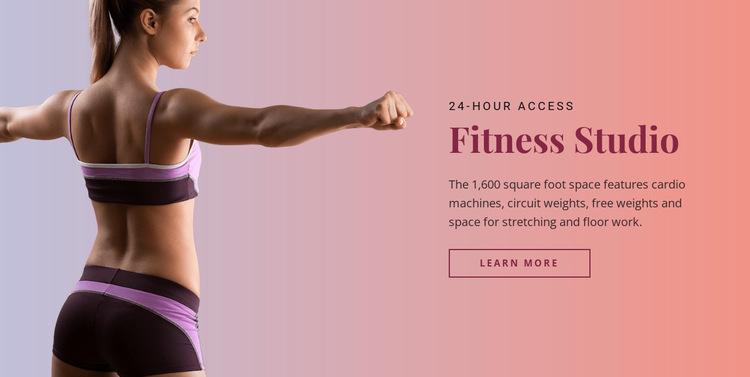 Sport fitness studio HTML5 Template