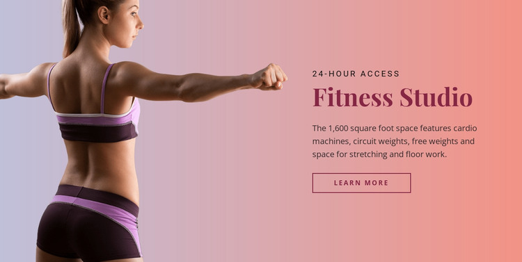 Sport fitness studio Web Design