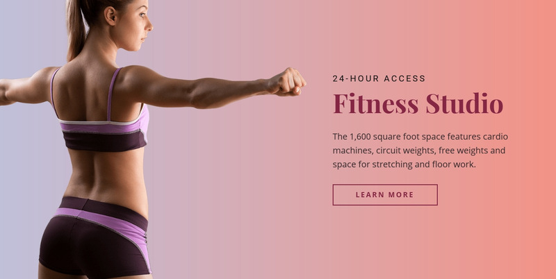 Sport fitness studio Web Page Designer