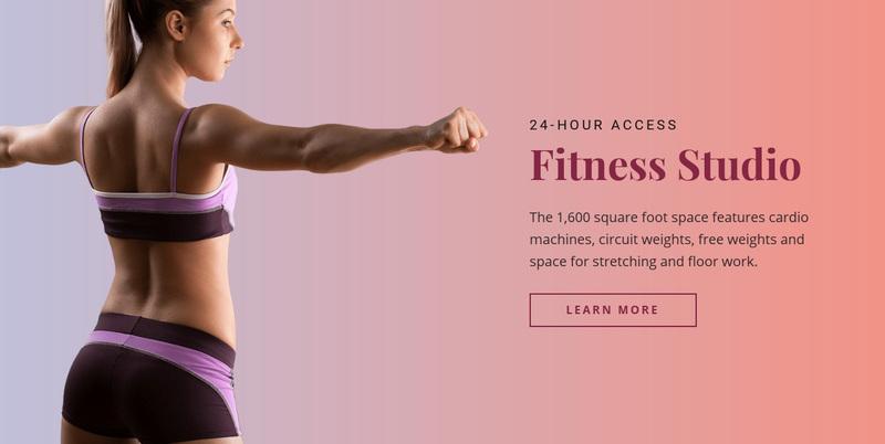 Sport fitness studio Website Creator