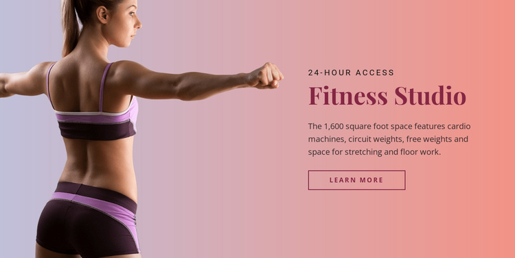 Sport fitness studio Website Template