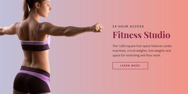 Sport fitness studio WordPress Theme