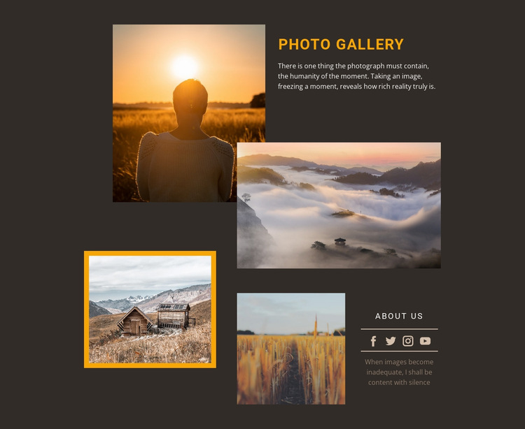 Photography workshops HTML5 Template
