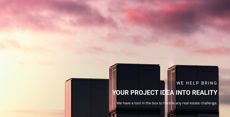 Your projects idea Website Template