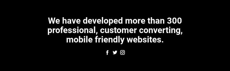 Text and social icon WordPress Theme