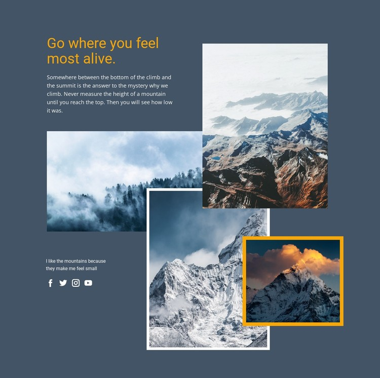 Hiking through the Alpine Paths CSS Template