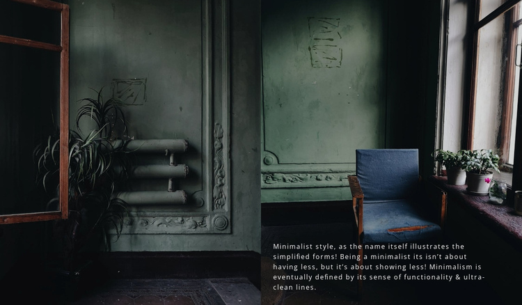Dark interior style One Page Template