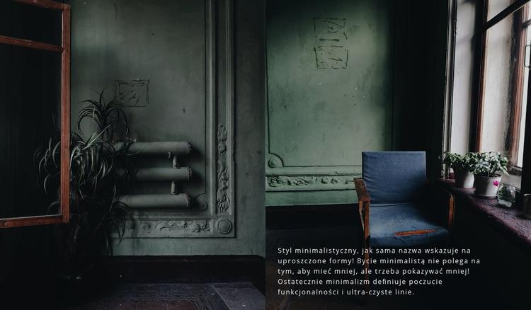 Ciemny styl wnętrza Szablon Joomla