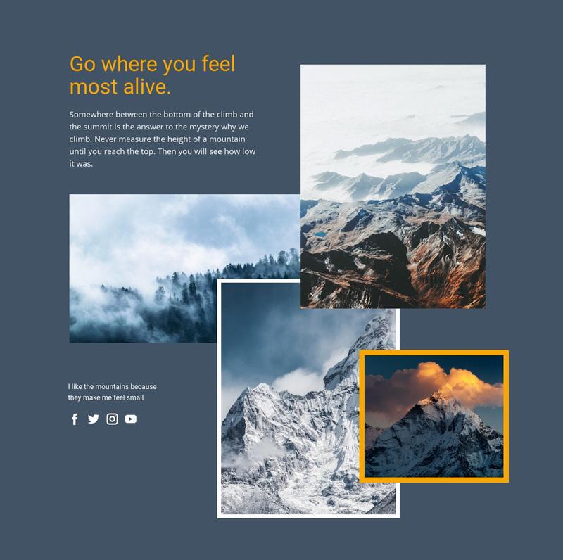 Hiking through the Alpine Paths Web Page Design