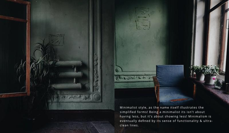 Dark interior style Web Page Designer