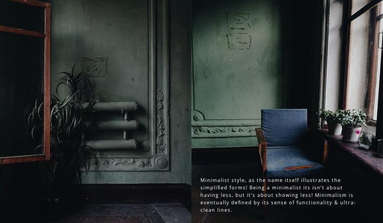 Dark interior style Website Template