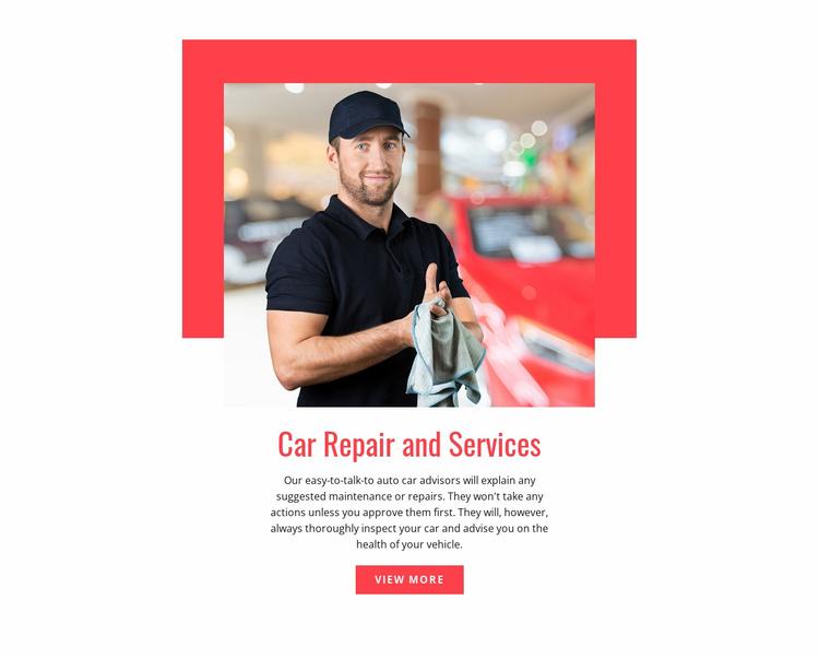 Exhaust systems repair Website Template