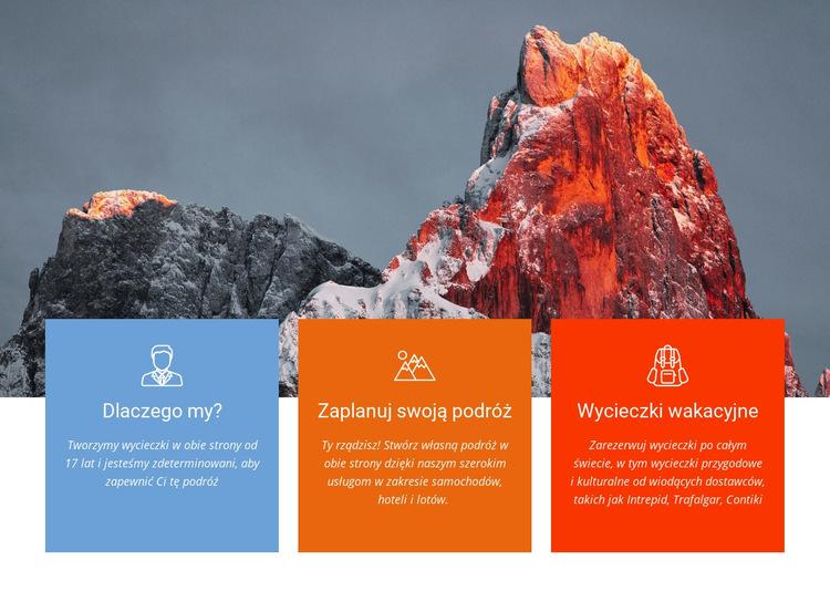 Wspinaj się na szczyt wysokiej góry Szablon witryny sieci Web