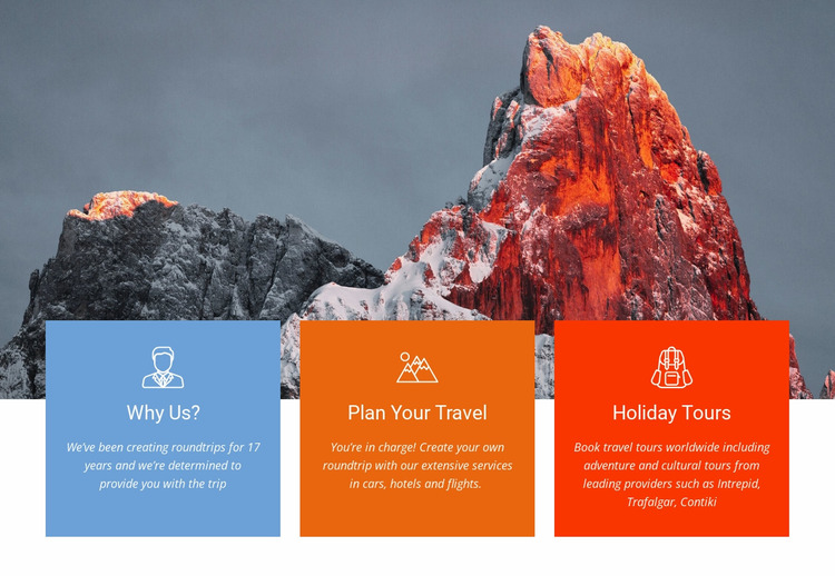 Climb to top of high mountain Website Mockup