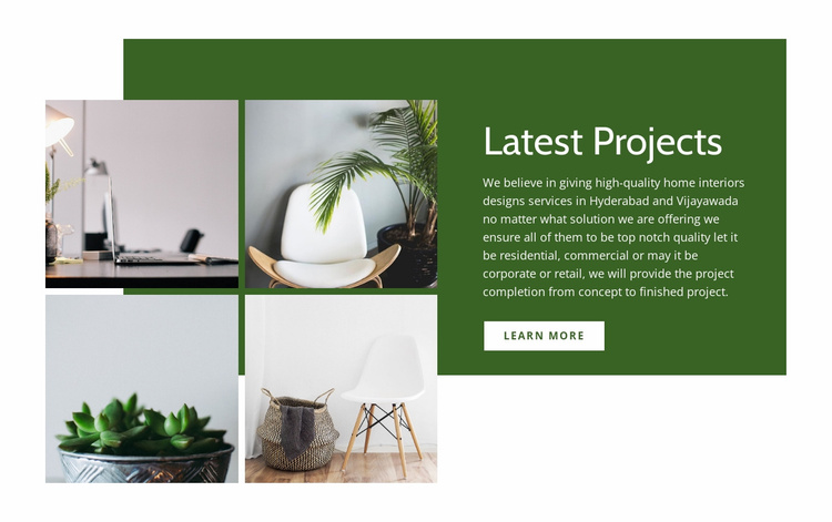 Latest interior projects Website Template