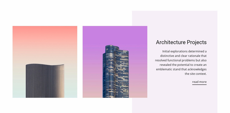 Architectural design projects Website Template