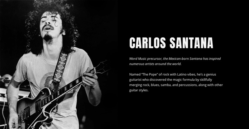 A brief history of legendary guitarist Web Page Design