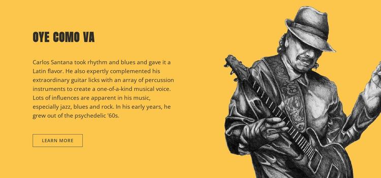 Guitar legend Website Mockup