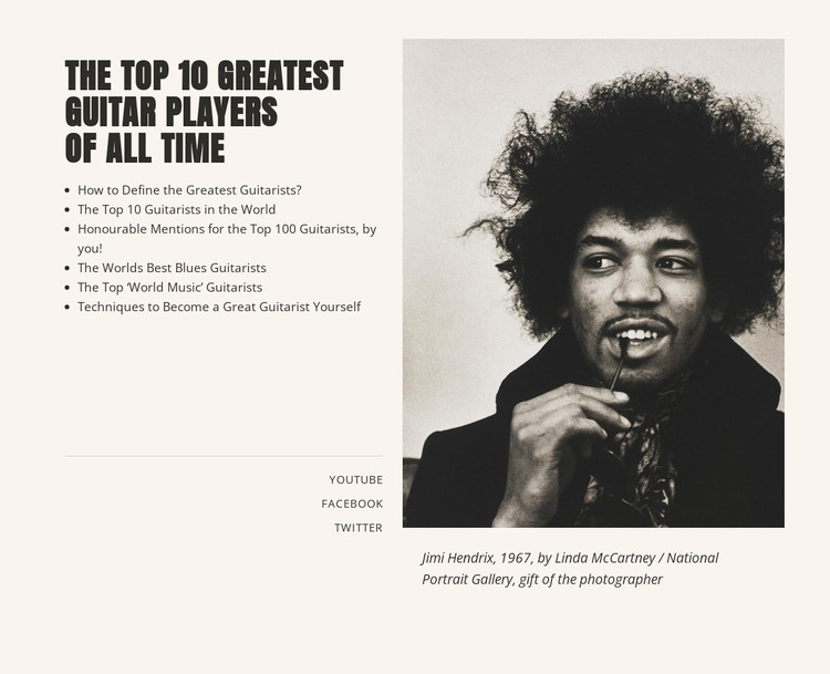 Music and entertainment top WordPress Website Builder