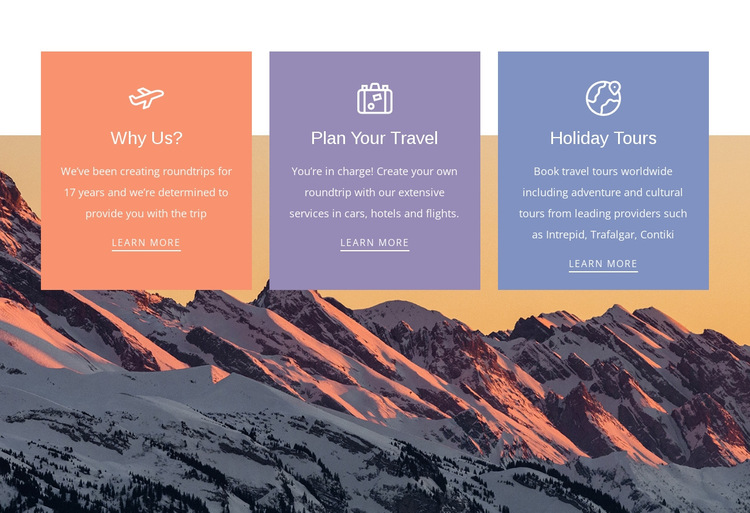 The benefits of traveling HTML5 Template