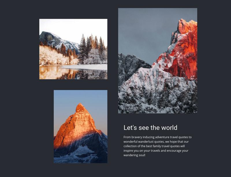 World travel tours Web Page Designer