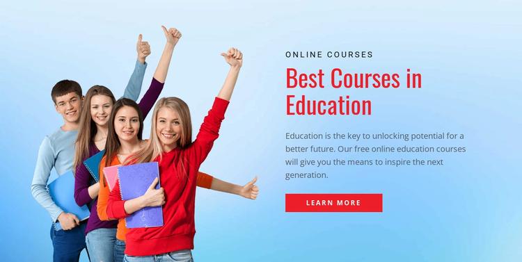 School education portal Website Template