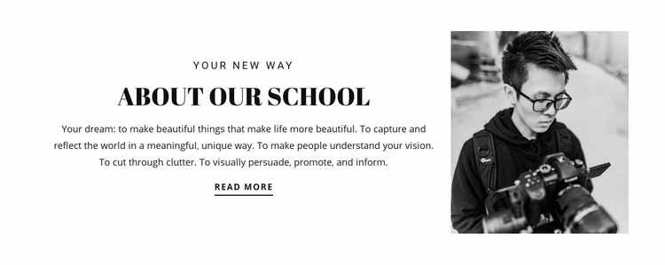 School of photographers Web Page Design