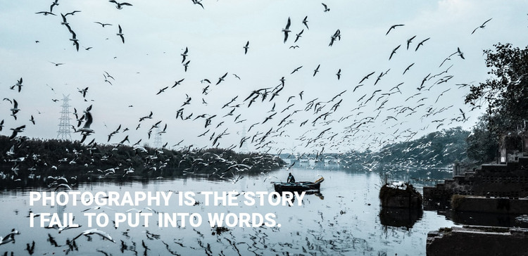 Photography is the story Web Design