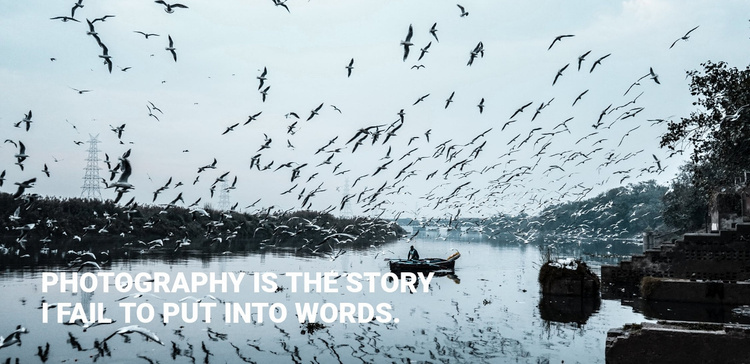 Photography is the story Website Template