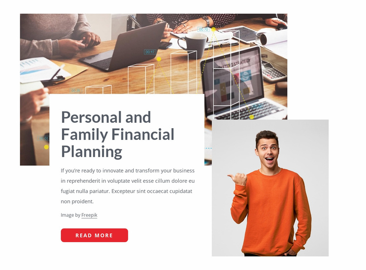 Family finance planning Website Template