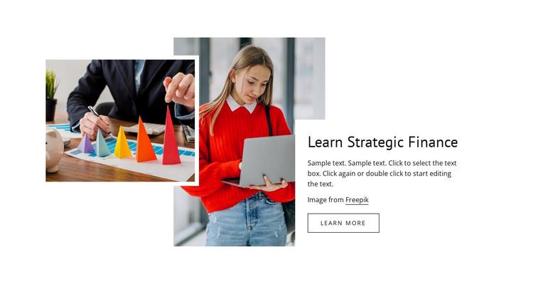 Learn strategy finance HTML Template