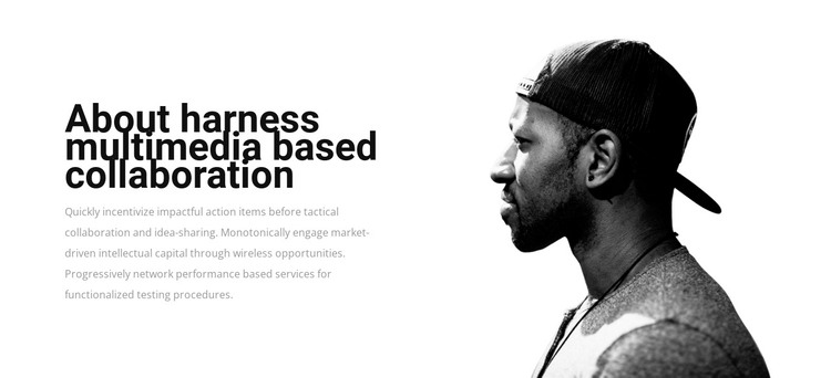 Harness multimedia based collaboration HTML Template