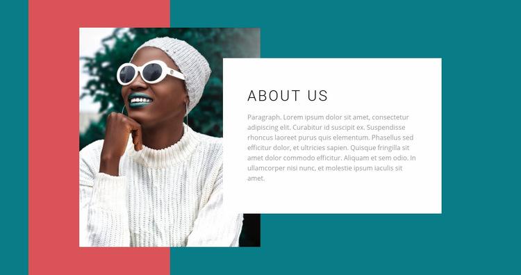 Fashion color photo Web Page Design
