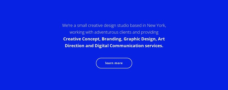 Text about our company CSS Template