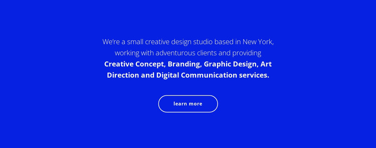 Text about our company HTML Template