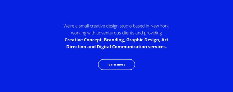 Text about our company HTML5 Template