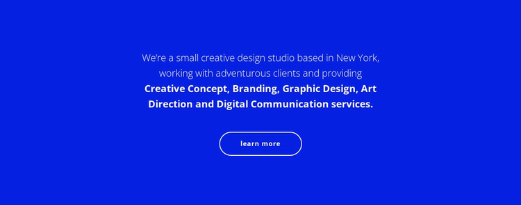 Text about our company Web Design
